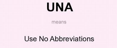No Abbreviations