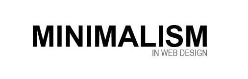 minimalism in website designminimalism in website design