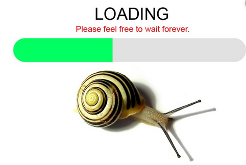 slow loading web pages