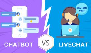 Chatbot vs livebot