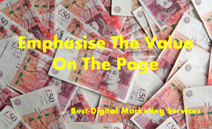 Emphasise the value on the page