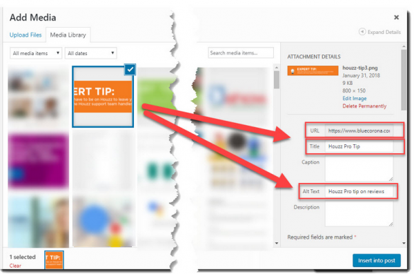Optimise alt text tag and Image title tag