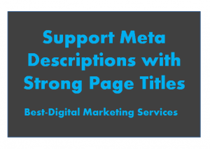 Support Met description with strong page title