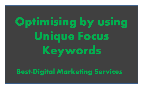 Using Unique Focus Keywords