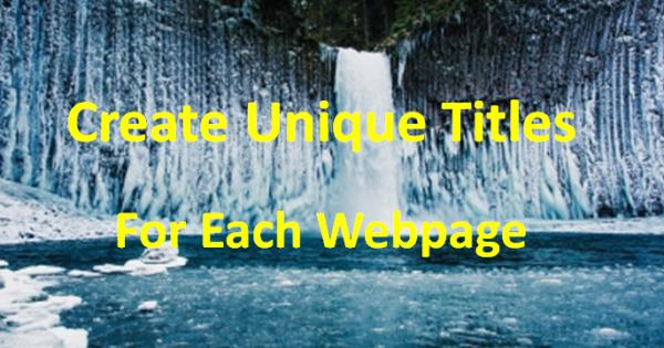 create unique title for each page
