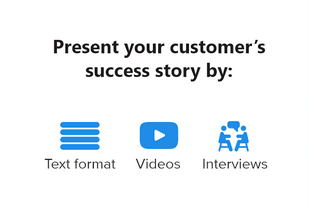 presenting customer stories
