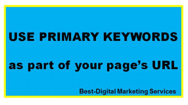 use primary keywords