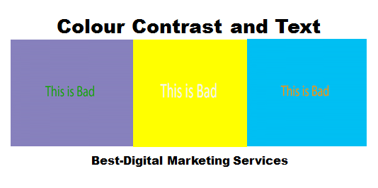 Best-Digital Marketing Services colour contrast and text