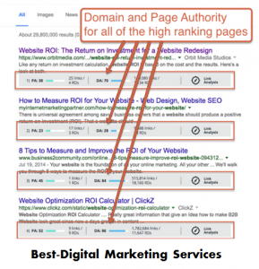 Best-Digital Marketing Services domain authority - page authority