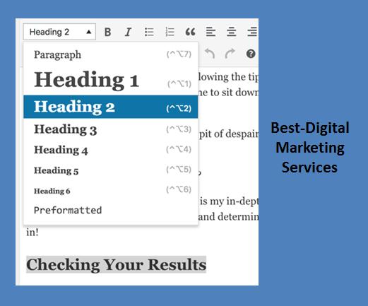 heading tags in wordpress