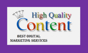 Best-Digital Marketing Services high quality relevant content