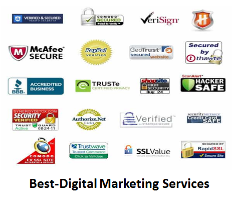 Best-Digital Marketing Services Trust & Credibility Icon & Sign
