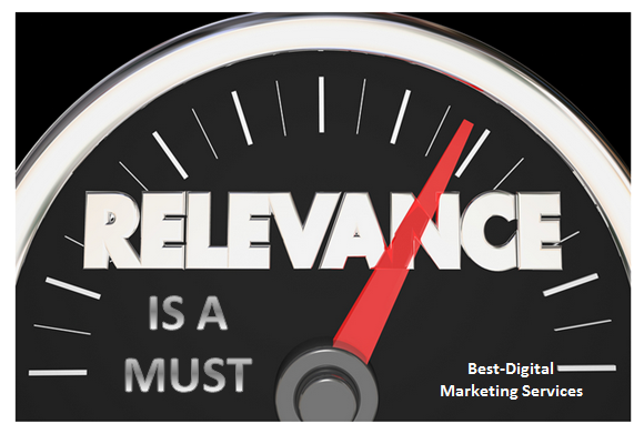Best-Digital Marketing Services relevance is a must for online