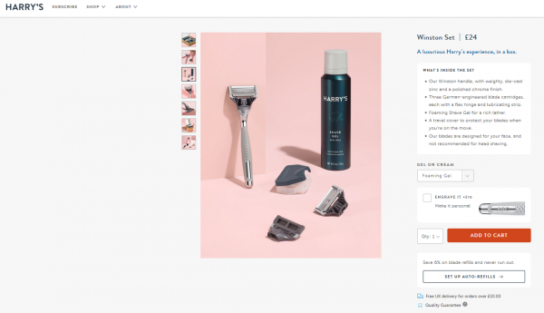 Harry's Product Page