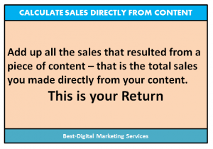 Best-Digital Marketing Services - Calculate sales directly from content