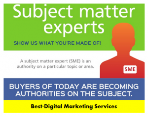 Best-Digital Marketing Services - Increase subject matter expertise