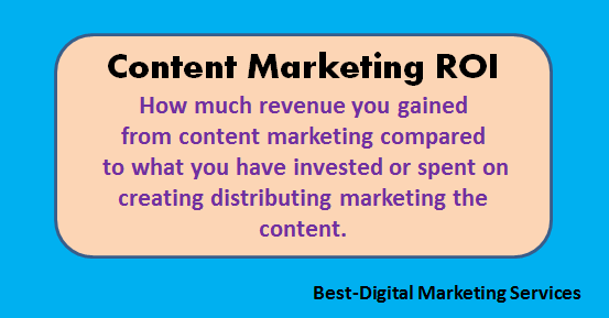 Best-Digital Marketing Services - What is Content Marketing ROI