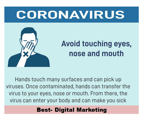 Corona - Avoid Touching face nose mouth