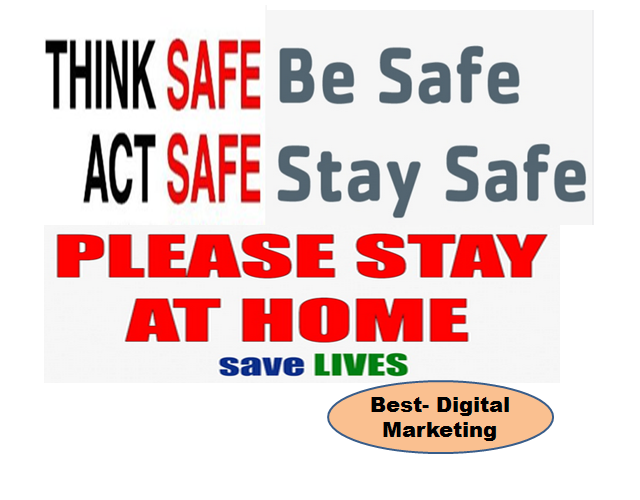 Corona - Be Safe Stay Save - Stay At Home - Save Lives
