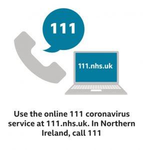 Corona Virus - Call NHS 111