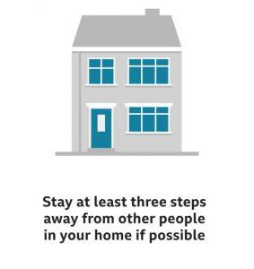 Corona Virus - Stay 3 feet away whilst in house