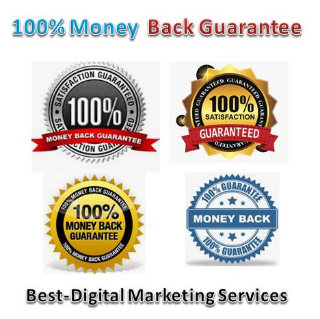 Best-Digital Marketing Services - 100% money back guarantee badges