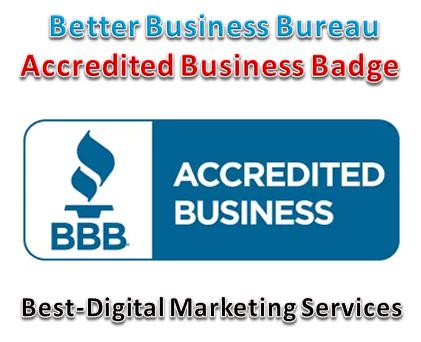 Best-Digital Marketing Services - Best Business Bureau accredited Businesss trust badge- seal