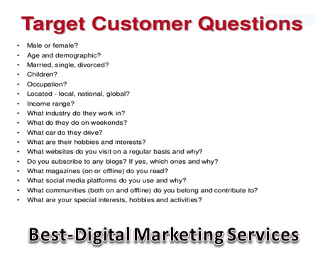 Best-Digital Marketing Services - Target Customer Questions