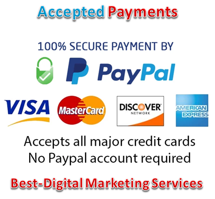 Best-Digital Marketing Services - accepted payments
