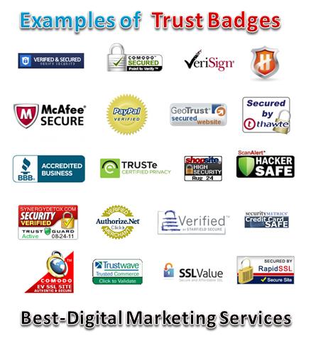 Best-Digital Marketing Services - examples of trust badges- seals