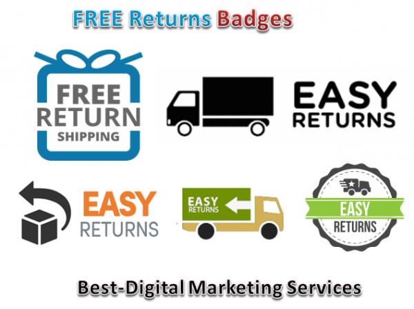Best-Digital Marketing Services - free returns badges