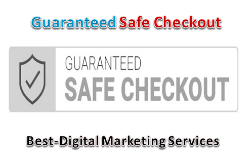 Best-Digital Marketing Services - guaranteed safe checkout trust badge