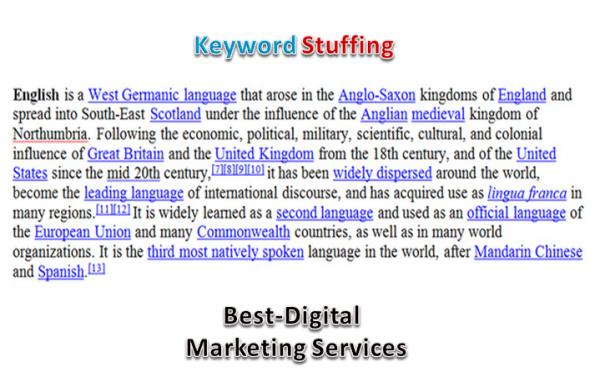 Best-Digital Marketing Services - keyword over stuffing