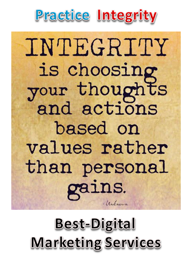 Best-Digital Marketing Services - practice integrity