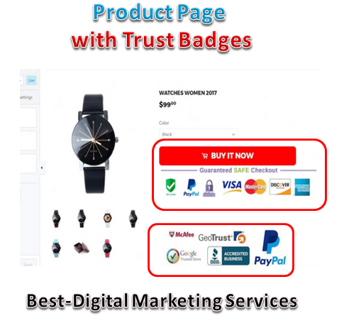 Best-Digital Marketing Services - product page with trust badges