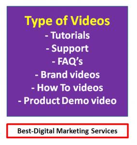 Best-Digital Marketing - Types Of videos