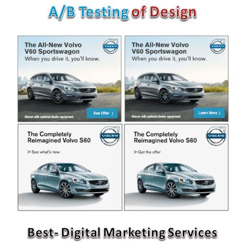 A / B testing of design