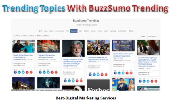 Trending Topics Buzz Sumo