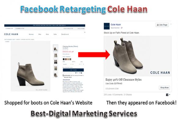 facebook retargeting - cole haan- example