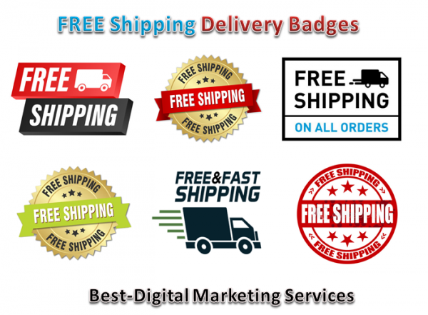 free shipping - delivery badges