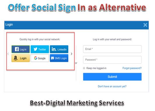 offer social sign in as alternative
