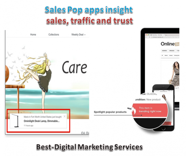 sales pop apps insight sales, traffic and trust