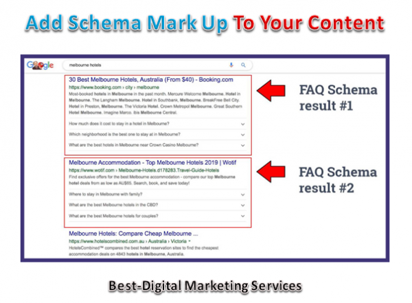 Add schema Mark up on your Content