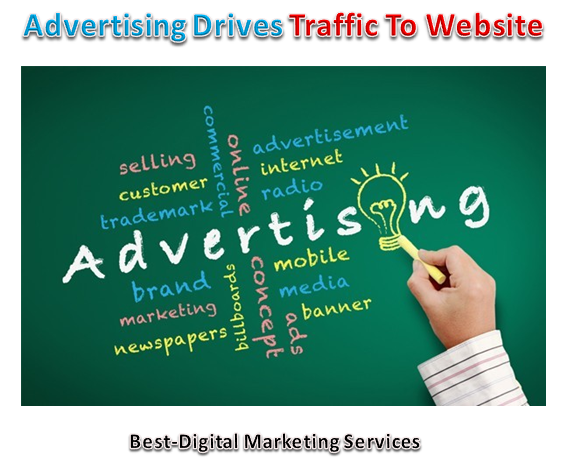 Advertising drives traffic to website