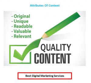 Best-Digital Marketing - Attributes of Content