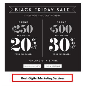 Best-Digital Marketing - Email Marketing example - black friday sale