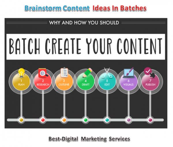 Brainstorm Conetnt Ideas In Batches