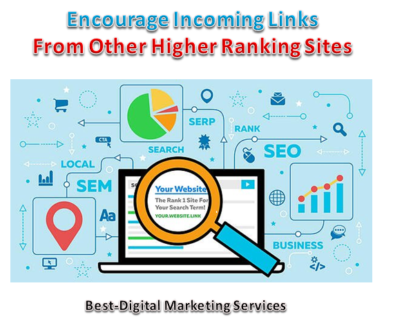 Encourage Income Links From Other Higher Ranking Sites