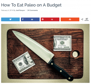 Example - How To eat Paleo On a budget