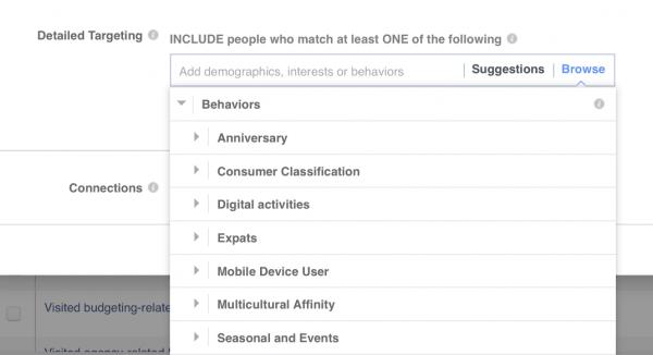 FB Behaviour Based Targeting